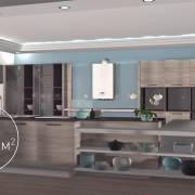 Котел вписывается в интерьер кухни
