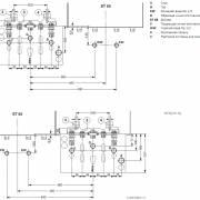 Монтажные размеры и подсоединения Bosch Condens 3000 W и бойлер ST 65 E