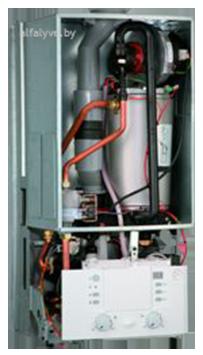 Внутреннее устройство котла Bosch Condens 3000 W
