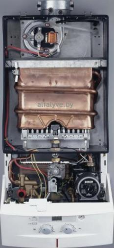 Внутреннее устройство котла Bosch Gaz 4000 W