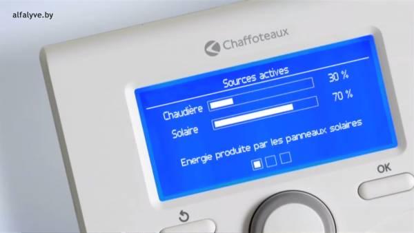 Распределение источников нагрева на панели управления Chaffoteaux