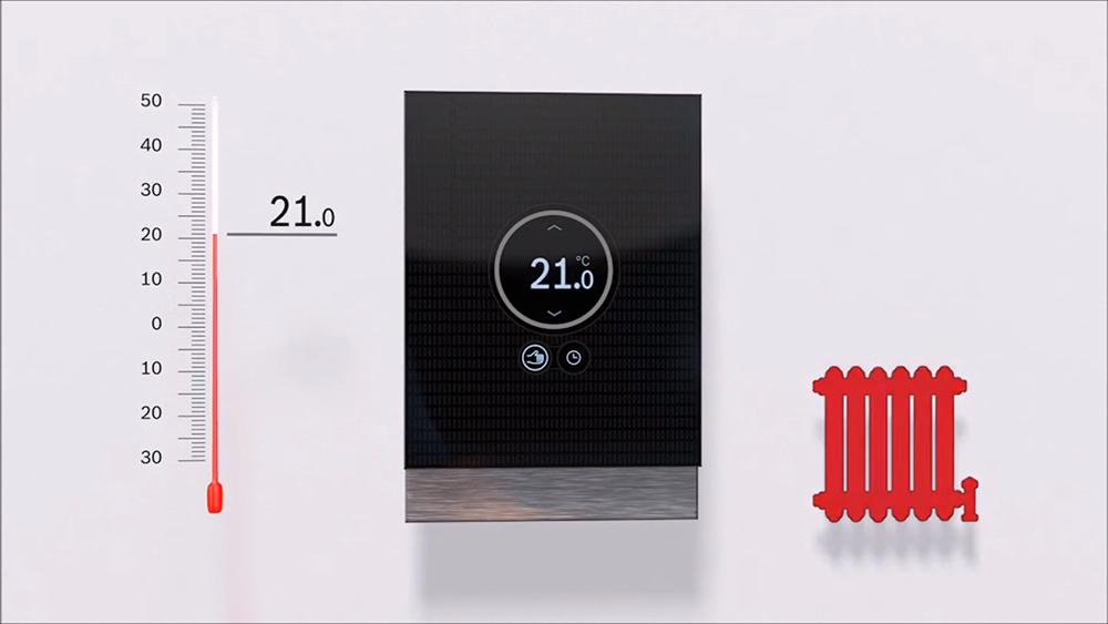 Задание температуры в комнате с помощью комнатного термостата Bosch