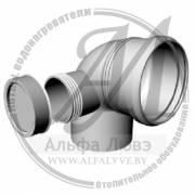 Ревизионное колено 87 градусов (правое) для системы дымоудаления конденсационного котла