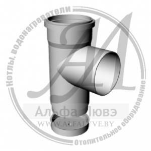 Тройник ревизионный со стоком для системы дымоудаления конденсационного котла