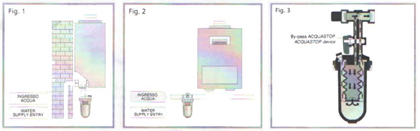 Варианты расположения полифосфатного фильтра Beretta 696279 в системе отопления