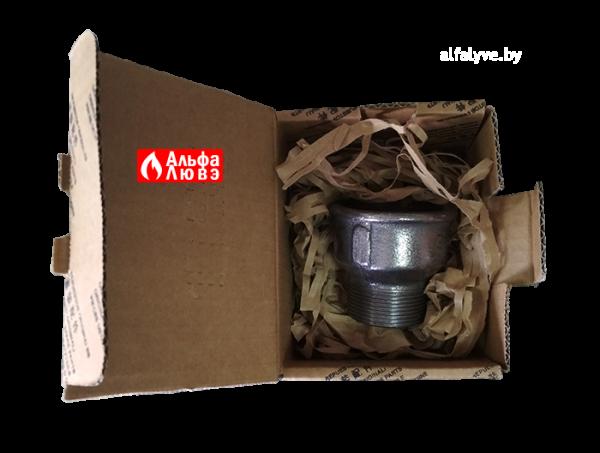 Адаптер переход с диаметра 2 дюйма на диаметр 1 1-2 дюйма с горелки на газовую рампу (в упаковке)