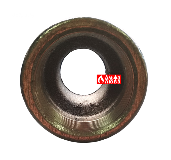Адаптер переход 3000822 с диаметра 2 дюйма на диаметр 1 1-2 дюйма с горелки на газовую рампу (вид спереди)
