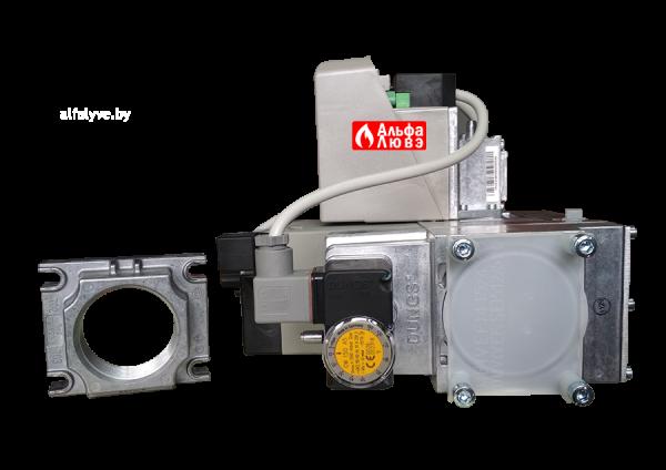 Газовая рампа (газовый мультиблок) Riello MB 420-1 CT RSM 30, размер 2 дюйма, артикул — 3970234 (вид снизу)