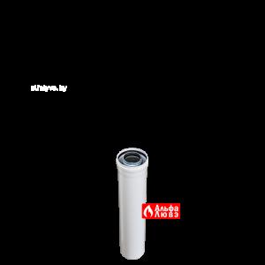 Удлинитель коаксиальный Ø60-100 M-F длина 500 мм алюминий ALCED 02 D60-100 для газового котла