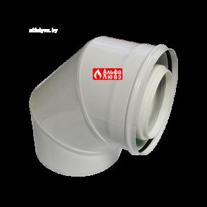 Отвод 87° коаксиальный алюминиевый CCPPS87812MFB Ø80-125 для конденсационного котла любой марки