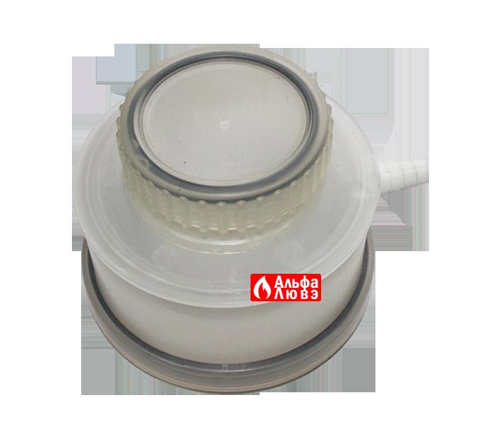 Крышка ревизионная Ø125 со стоком для слива конденсата PP артикул - 41125 (вид снизу)