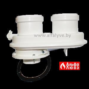 01 Адаптер одноблочный DN60-100 на DN80 - DN80 для раздельного дымоудаления конденсационных котлов Sime, Ferroli, Radiant, Альфа-Калор, Unical