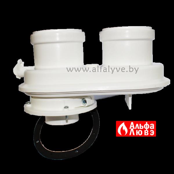 01 Адаптер одноблочный DN60-100 на DN80 — DN80 для раздельного дымоудаления конденсационных котлов Sime, Ferroli, Radiant, Альфа-Калор, Unical