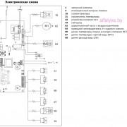 Электрическая схема котла Bosch Gaz 3000 W ZW 14-2 DH KE