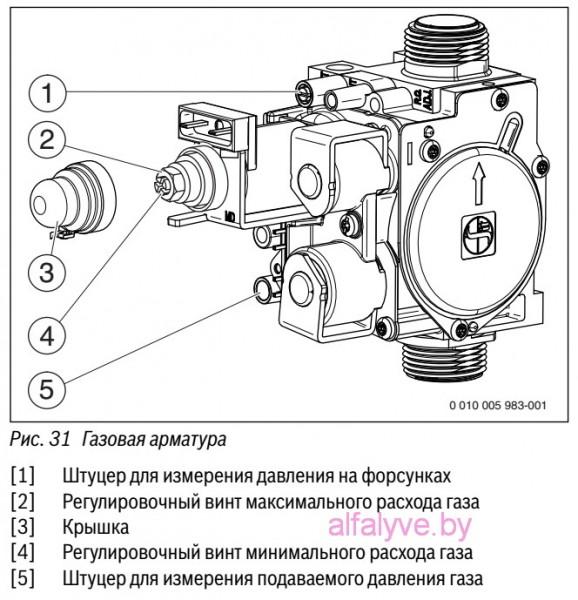 Газовая арматура котла Bosch Gaz 6000 W
