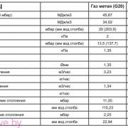 Газовые параметры котла Beretta City 28 RSI