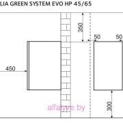 Крепеж котла Chaffoteaux Talia Green Evo System HP 45-65 FF