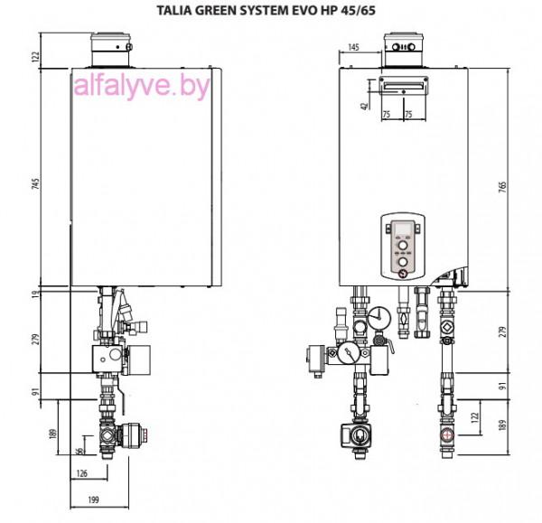 Монтаж котла Chaffoteaux Talia Green Evo System HP 45-65 FF