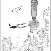 Проверка фильтра в трубе холодной воды Bosch Gaz 6000 W