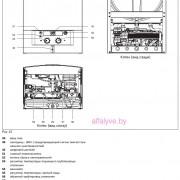 Входные размеры котла Bosch Gaz 3000 W ZW 14-2 DH KE