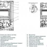 Внутреннее устройство котла Beretta City 24 RSI
