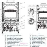 Внутреннее устройство котла Beretta City 24 CAI