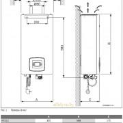 Габаритные размеры водонагревателя Bosch Therm 4000 S WTD