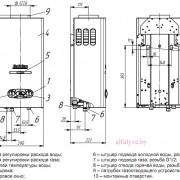 Габаритные-размеры-водонагревателя-Neva-4510-M