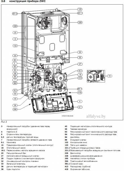 Компоненты котла Bosch Gaz 7000 W ZWC