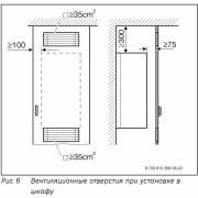 Минимальные расстояния котла Bosch Gaz 7000 W