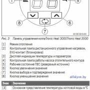 Панель управления котла Bosch Tronic Heat 3000-3500