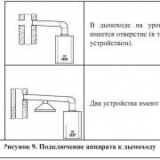 Подключение аппарата к дымоходу Neva
