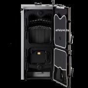 Твердотопливный одноконтурный котел Bosch Solid 3000 H с открытой дверцей