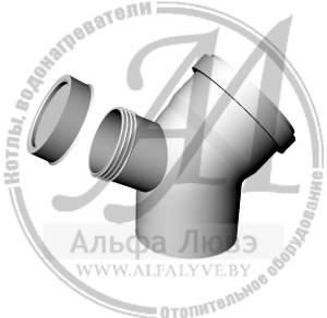 Ревизионное колено 45 градусов для системы дымоудаления конденсационного котла