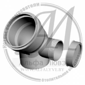 Ревизионное колено 45 градусов левое для системы дымоудаления конденсационного котла