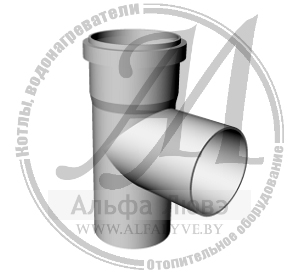 Тройник системы дымоудаления конденсационного котла