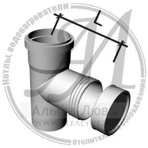 Тройник смотровой для системы дымоудаления конденсационного котла