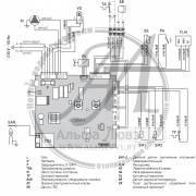 Электрическая схема котла Sime Brava One 25 OF (открытая камера сгорания)