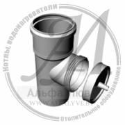 Элемент ревизионный резьбовой со стоком для дымохода конденсационных котлов