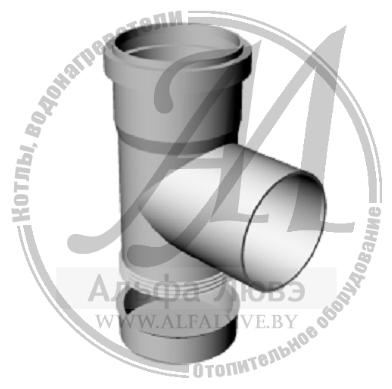 Тройник ревизионный смотровой для дымохода конденсационного котла