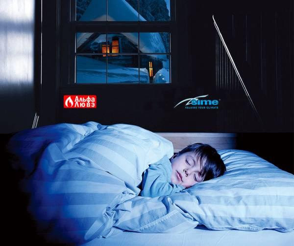 За окном зима, а малыш спит в тепле — Sime