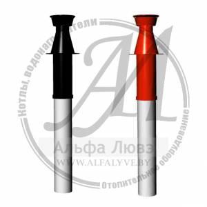 Коаксиальная дымовая труба для системы дымоудаления конденсационного котла