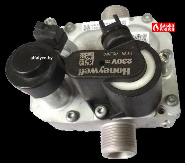 Газовый узел (регулятор) Atmix VK4305H1005 на котел BaltGaz Turbo (вид снизу)