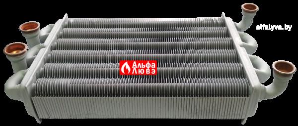 Битермический теплообменник PRB2550201 на котел Альфа-Калор (боковой вид)