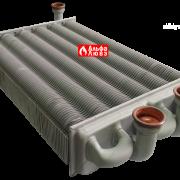 Битермический теплообменник PRB2550201 на котел Альфа-Калор (вид спереди)