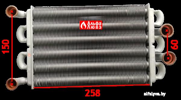 Размеры теплообменника PRB2550201 GIANNONI COMPACT