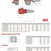 Размеры горелок Riello RS 300-800 M-BLU