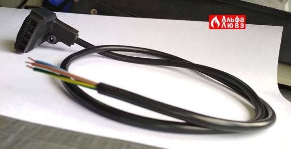 Выпрямитель газового клапана (Разъем подключения с проводом) 1B000053 к газовой арматуре Beretta (вид сбоку)