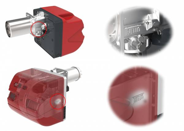Защитные лэйбы на новых горелках Riello RX 180-360 и R 28-64