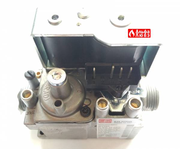 Газовая арматура 848 Sigma (Beretta 20039202) на котел Beretta City Green (вид сверху)